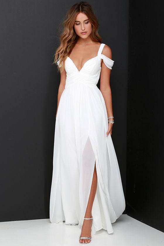 42999265b8 Vintage Chiffon Beach Bridal Wedding Dresses Split Side Cheap 2017 Floor  Length White Strap Bridal Dresses With Cap Sleeve Wedding Gowns,MB 22 on  Storenvy