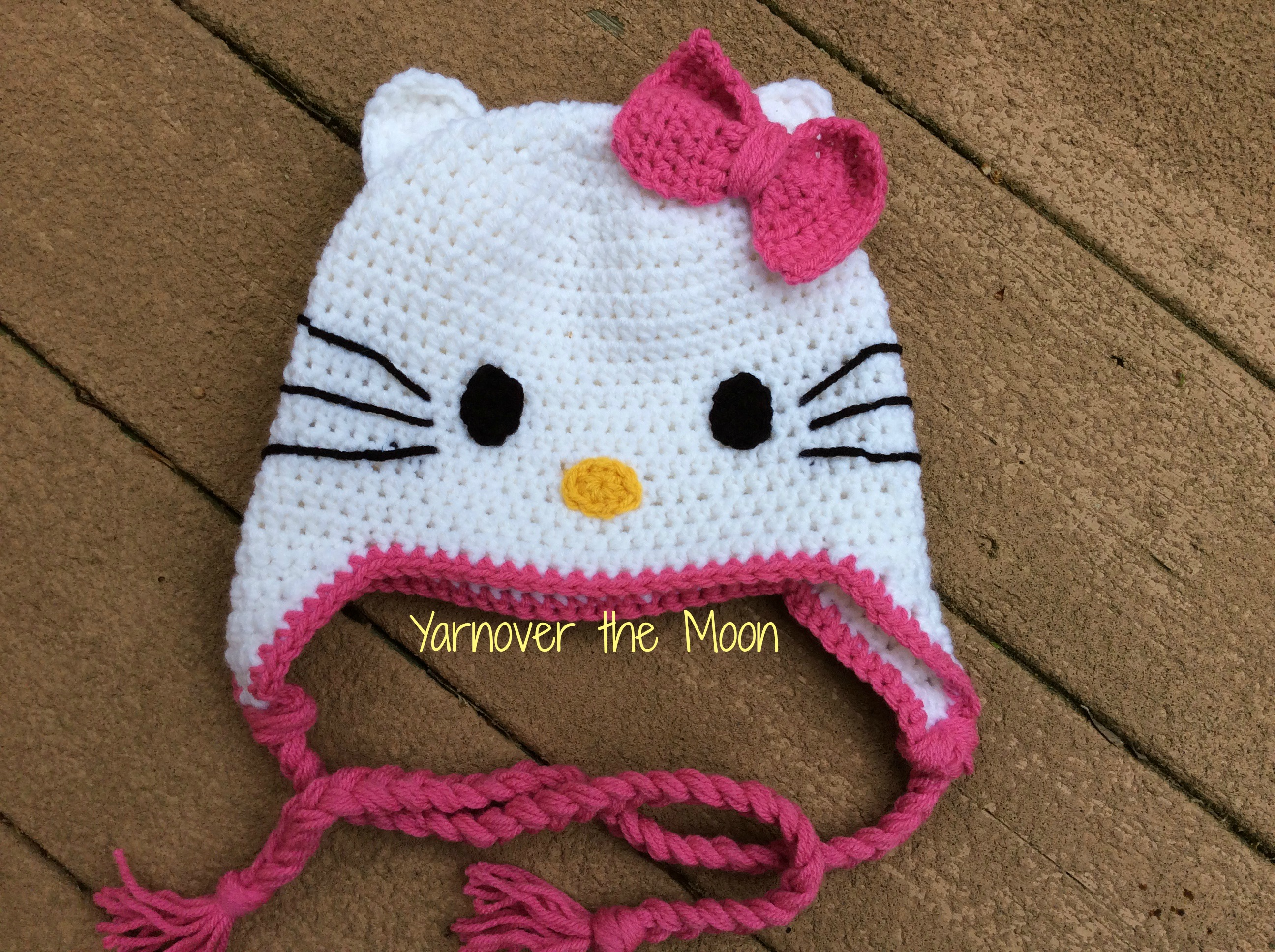 Crochet Hello Kitty Hat Yarnover The Moon Online Store Powered