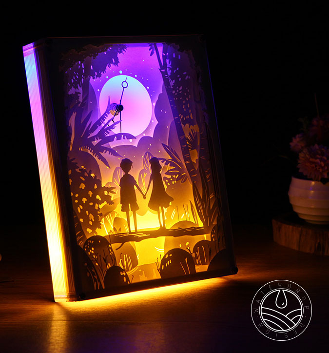 Papercut Light Boxes 3d Shadow Box Led Light Night Lamp