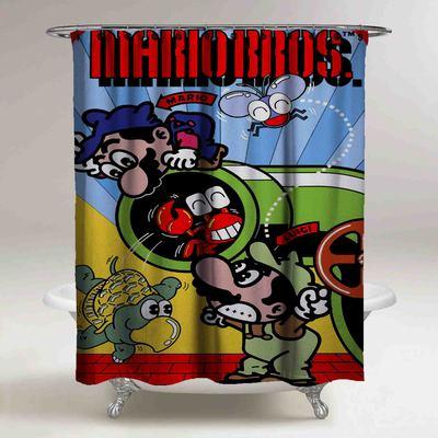 Super Mario Bross Custom Shower Curtain Print On