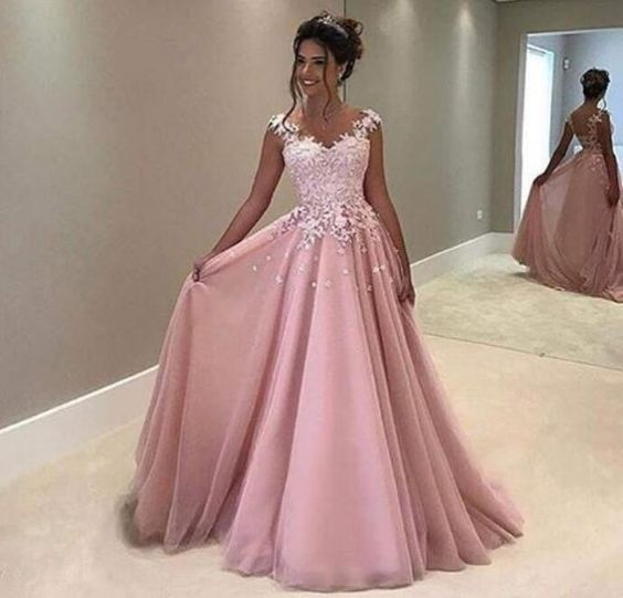 15161432016 Charming Sweetheart Lace Applique Long Prom Dress