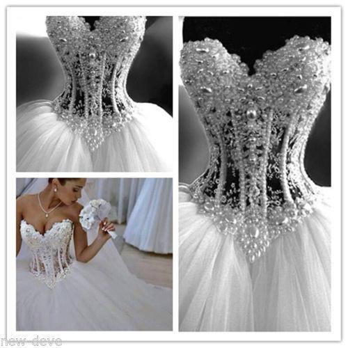 c453ddfade6 Luxury Dazzling Latest Design Ball Gown Wedding Dresses ...