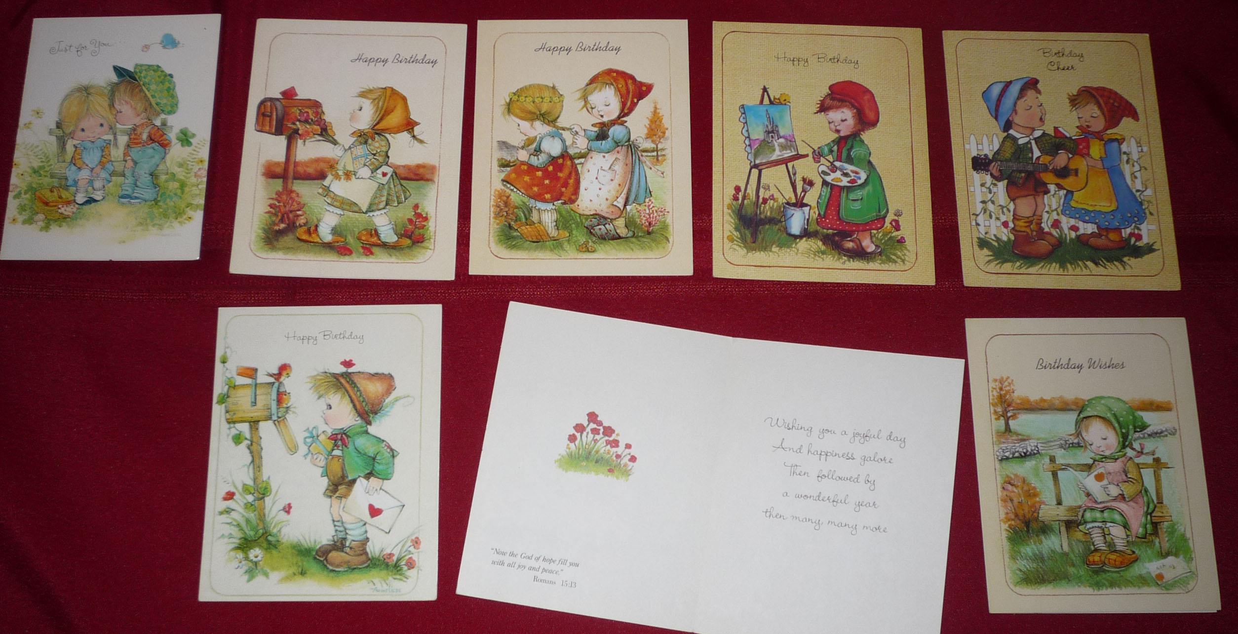 Vintage Greeting Cards Set Of 5