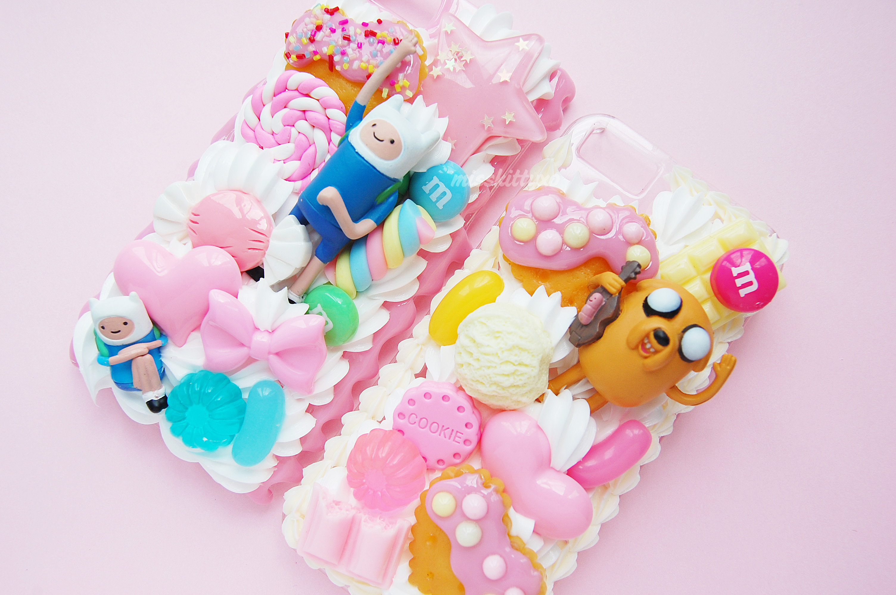 Custom Made - Adventure Time Kawaii Whipped Cream Decoden Case on ...