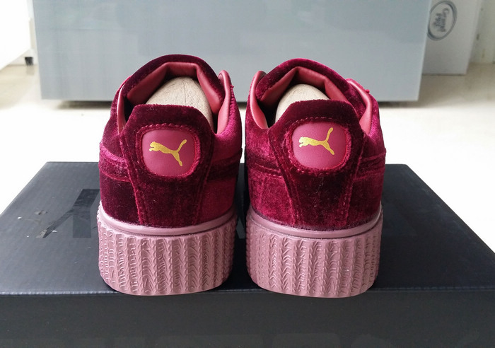 new product 062d2 92d9e Fenty by Rihanna women's Velvet Burgundy Creeper Fashion Casual sneaker  from supplier