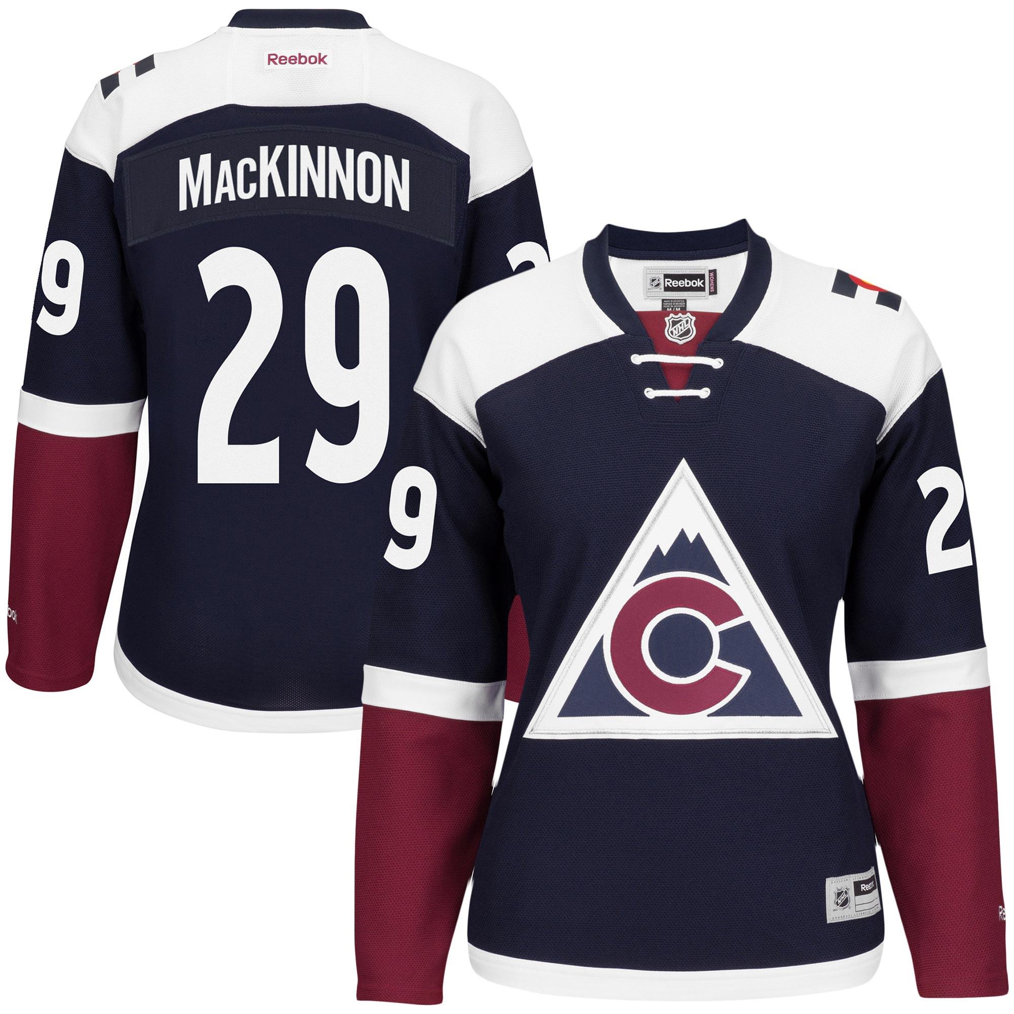buy cheap 9f9c7 663b2 Nathan MacKinnon Colorado Avalanche Reebok Women's Premier Player Third  Jersey - Navy sold by Best Jerseys