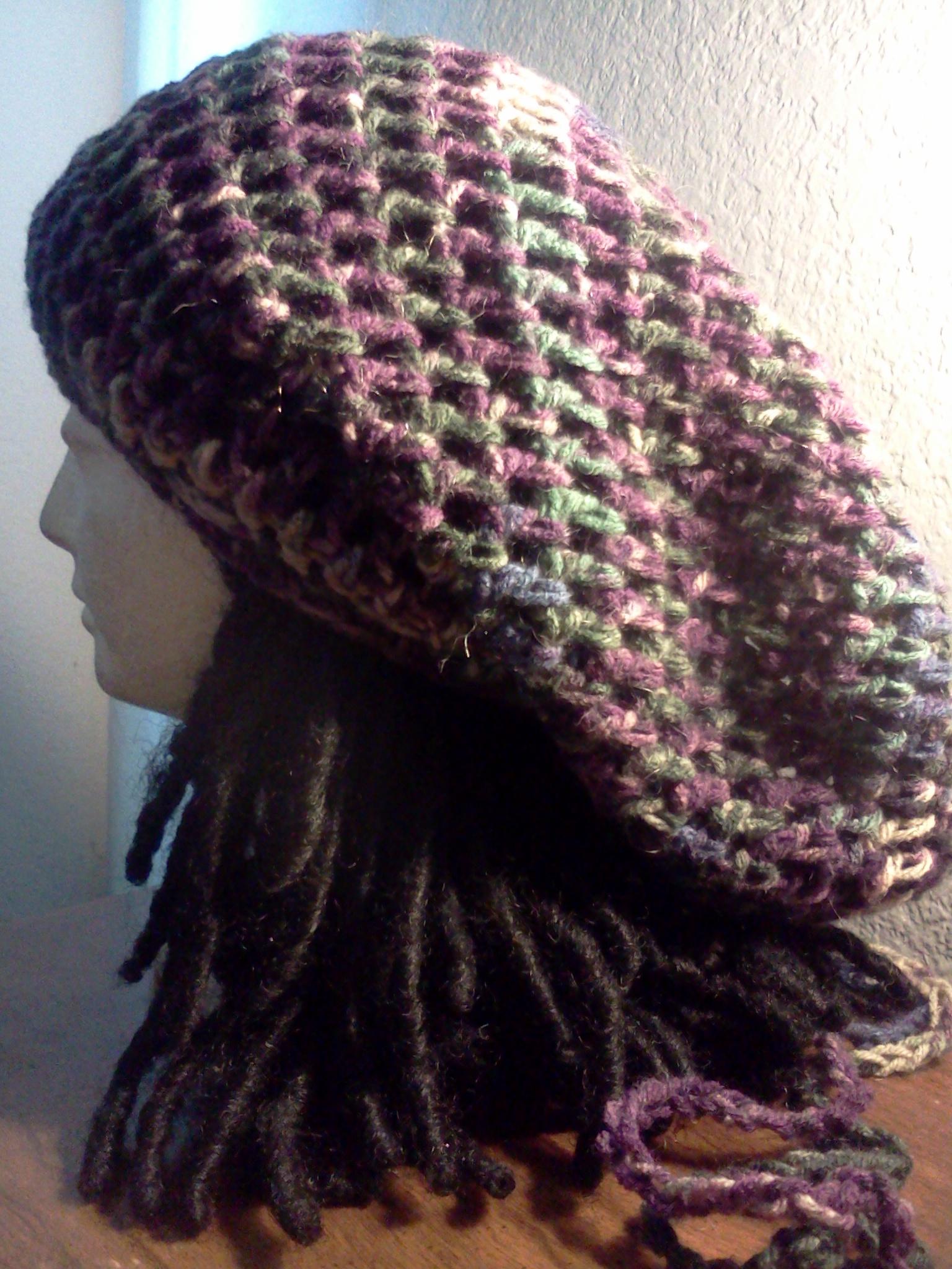 Custom Crocheted Drawstring Tam Crochet Tams Handmade Ooak