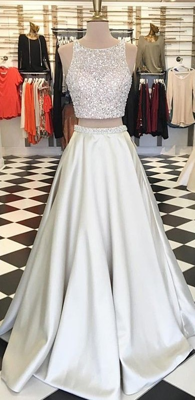 Two Pieces Prom Dress Prom Dresses Graduation Party