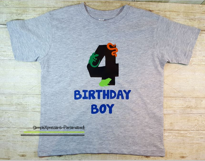 Reptile Birthday Shirt Toddler On Storenvy