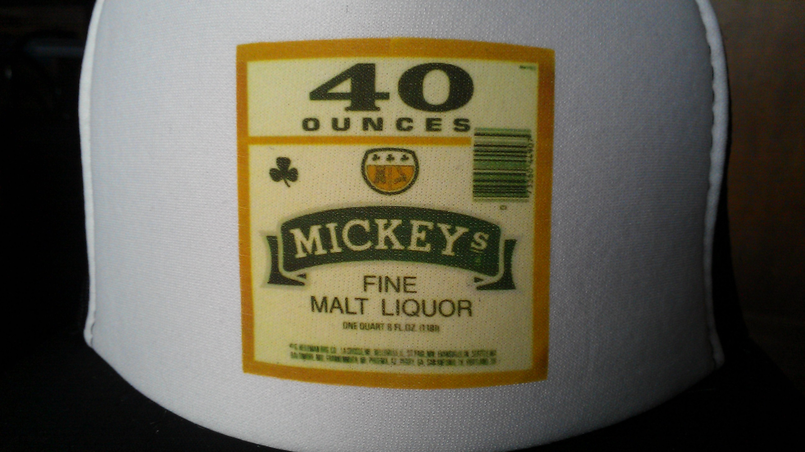 911eb018 Mickey's Classic Beer label black white black from The trucker hat store