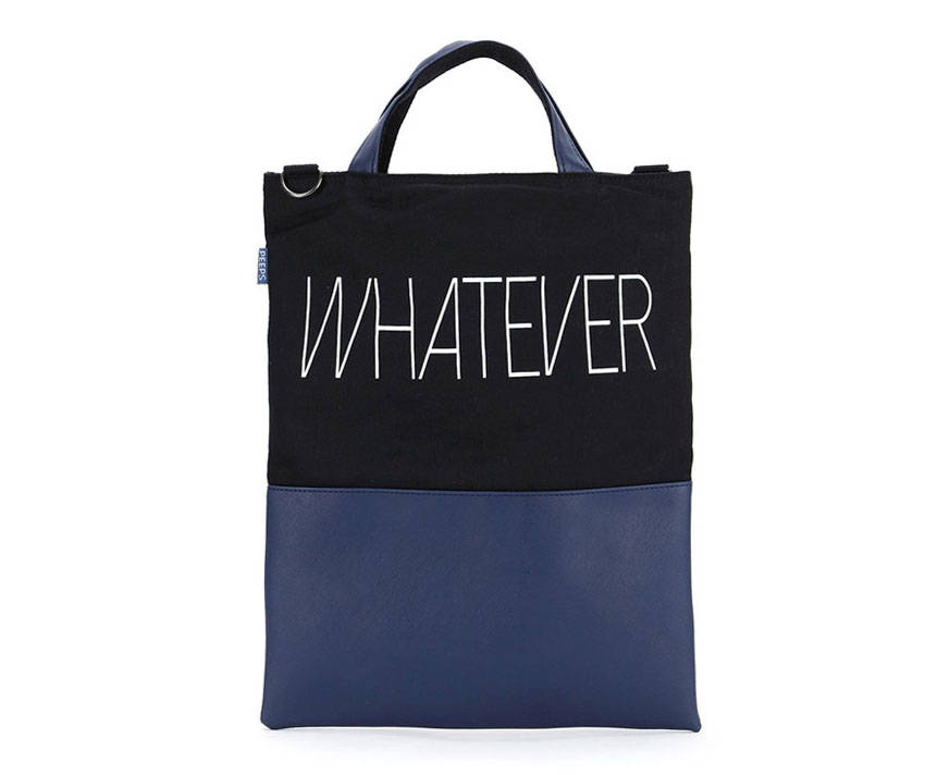 Twotone Men Tote Bag Messenger Bag Crossbody College Bag School Bag