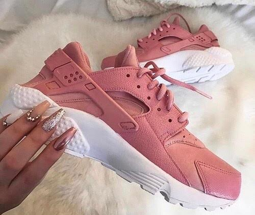 06c196e044b4f Dusty Pink   White Custom Nike Air Huaraches on Storenvy
