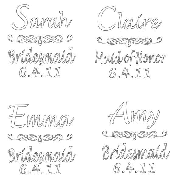 DIY Wedding Bride And Bridesmaid Wine Glasses Vinyl Decals DIY - How to make vinyl decals for wine glasses