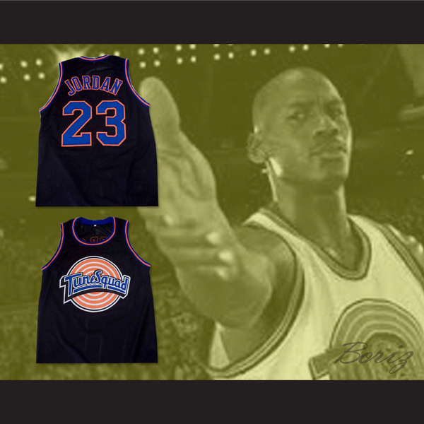 the best attitude ce77f 2d906 Michael Jordan Space Jam Tune Squad Basketball Jersey ALL SEWN New Custom  from acbestseller