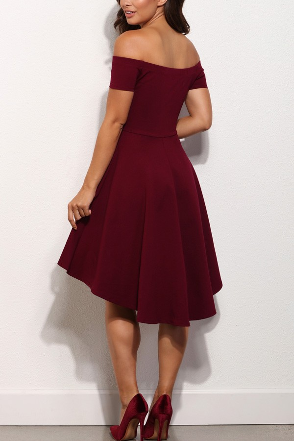 High Low Prom Dresssatin Prom Dressesburgundy Homecoming Dress