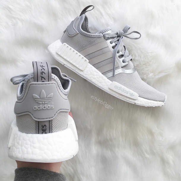 new concept 129a9 3f961 Fashion nmd r1 raw gray silver women's casual shoes from BELLDRESS