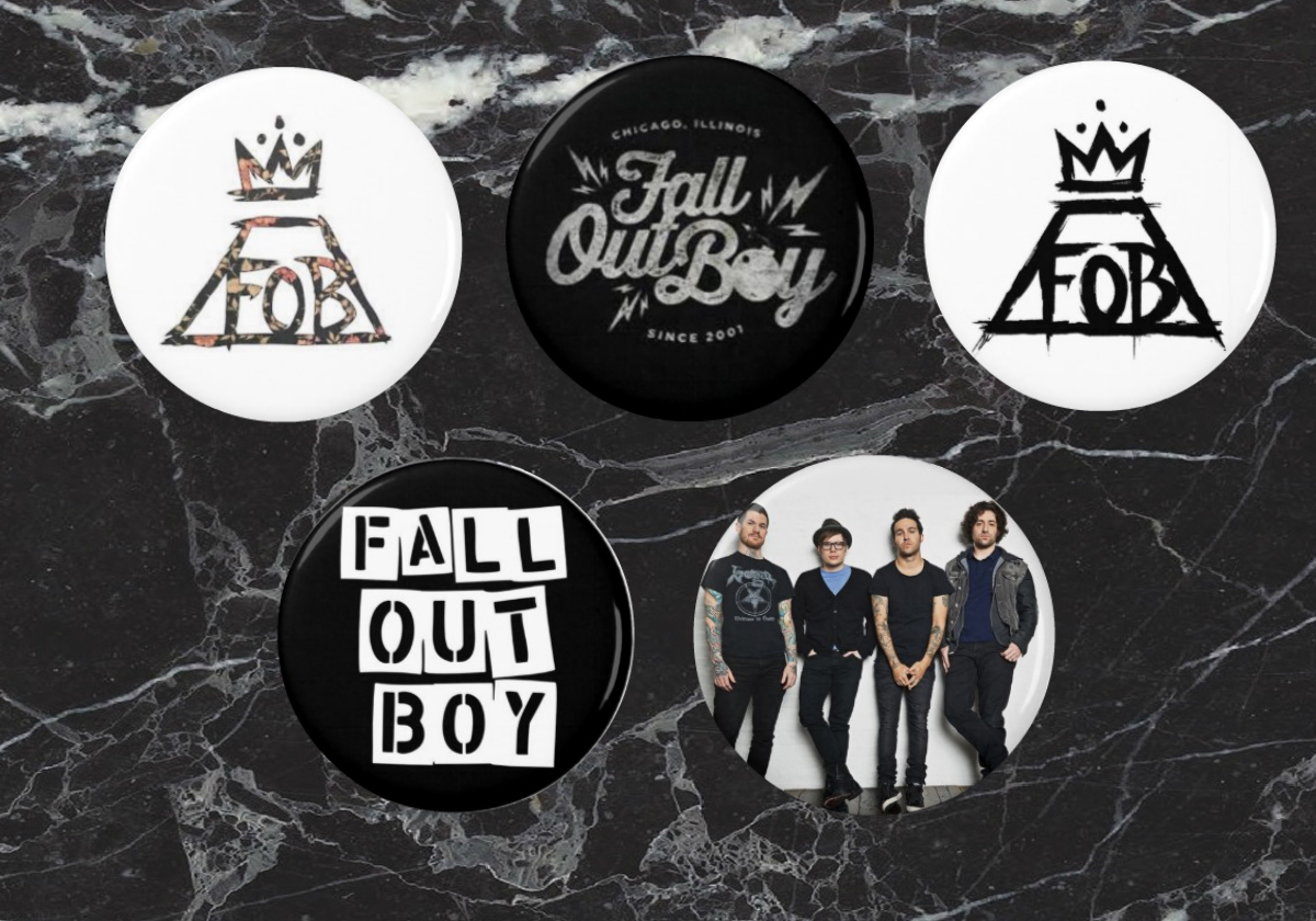 b741d630c Fall Out Boy Pinback Buttons from Celeb Pins
