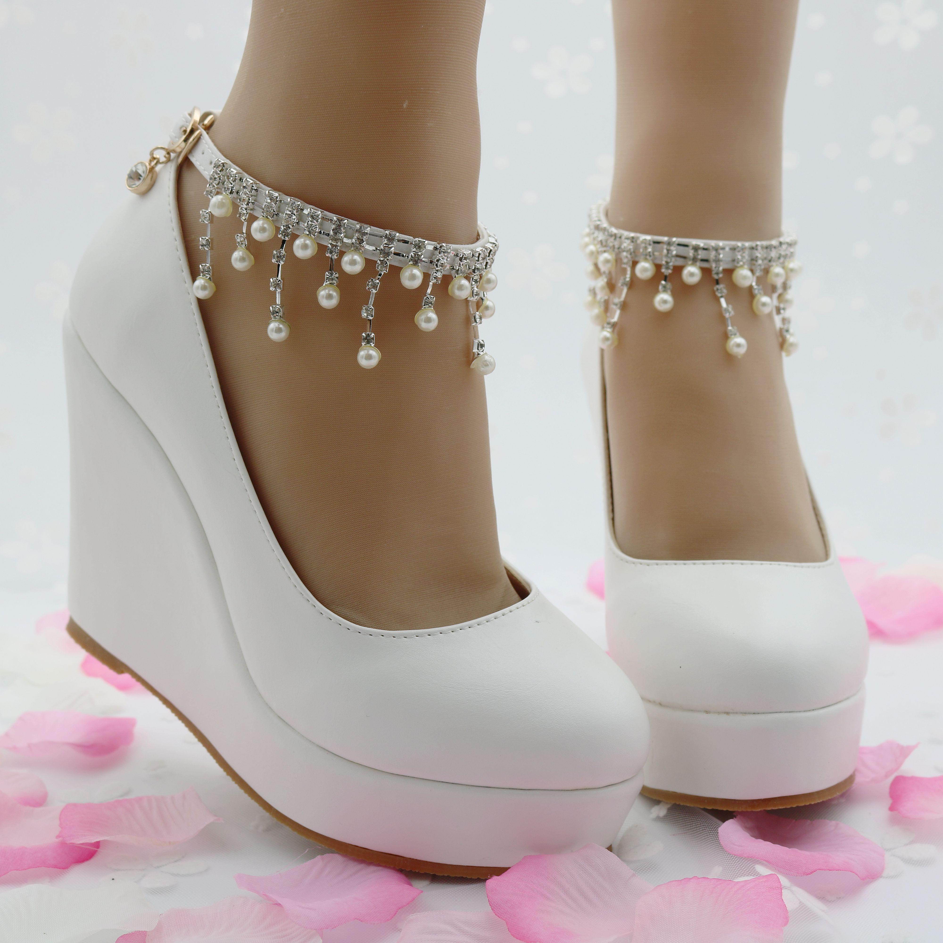 be514f65de white wedges pumps high heels platform wedges shoes tassel wedges heels