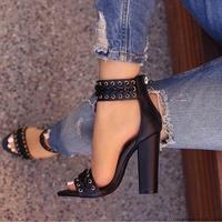 Solid Black Beige Summer Women Open Toe