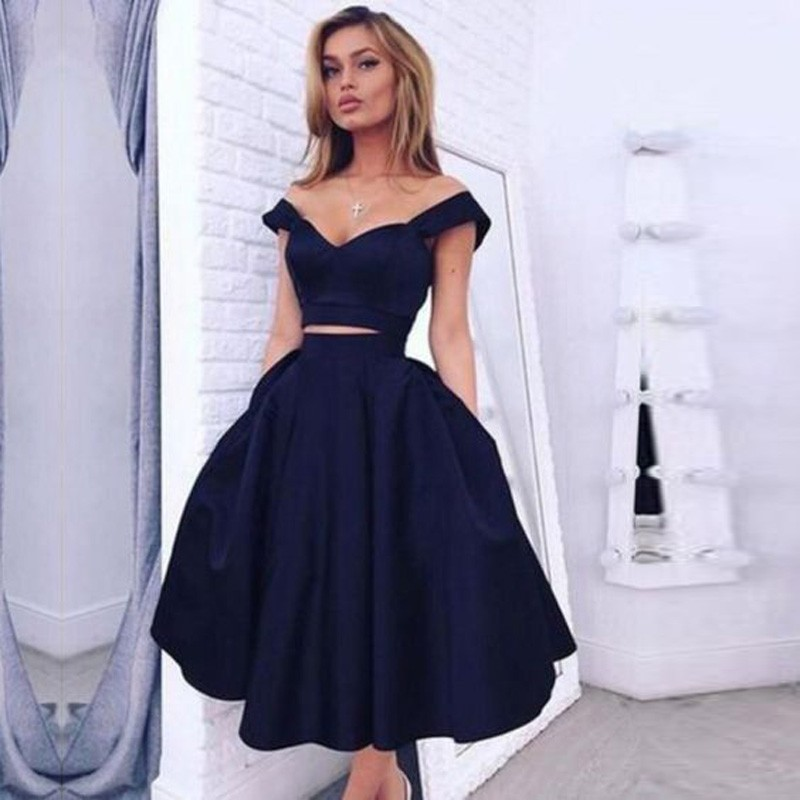 23f6689488d Dark Navy Homecoming Dresses