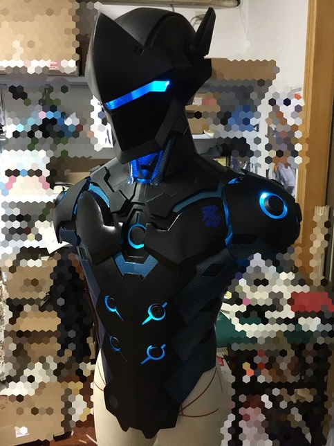 Overwatch Genji Carbon Fiber Skin Cosplay Armor Buy On