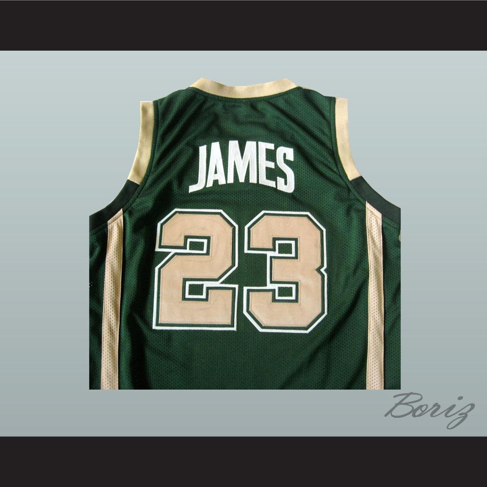 a38b5261229 Lebron James High School Basketball Jersey Irish 23 Stitch All Sizes ...