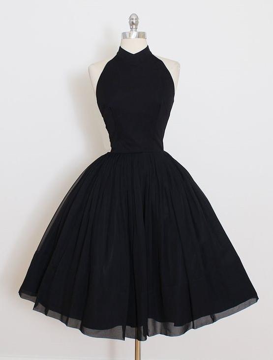 73d1a6e2f0 Cute Black Short Homecoming Dress