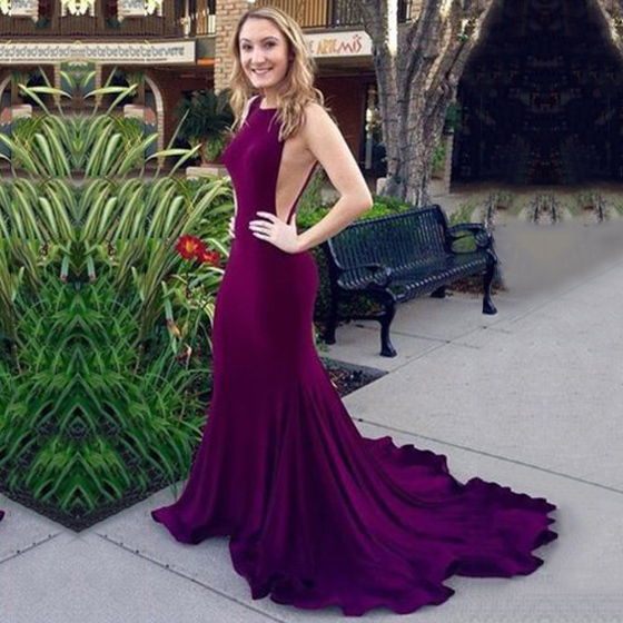 933f52cb9d4a Sexy Trumpet/Mermaid Prom Dresses, Silk-like Satin Court Train Evening  Party Gowns