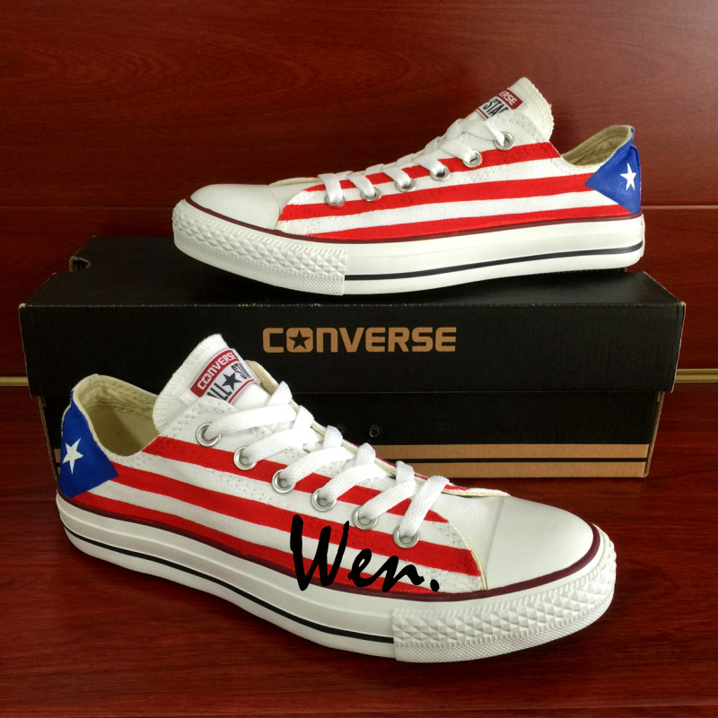 quality design 18ec7 aa965 USA Puerto Rico Flag Original Design Low Top Skateboarding Shoes Converse  Chuck Taylor Hand Painted Shoes Custom Sneakers Unisex on Storenvy