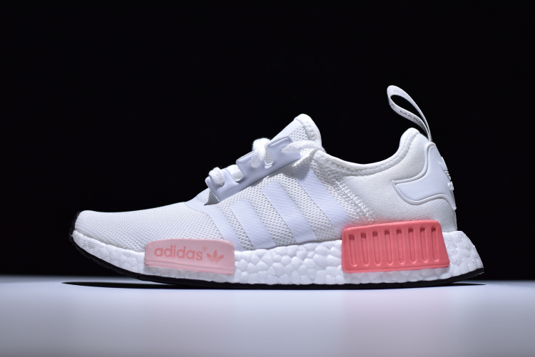 4dba6a783ed Adidas NMD R1 Boost White pink runner shoes BY9952 on Storenvy