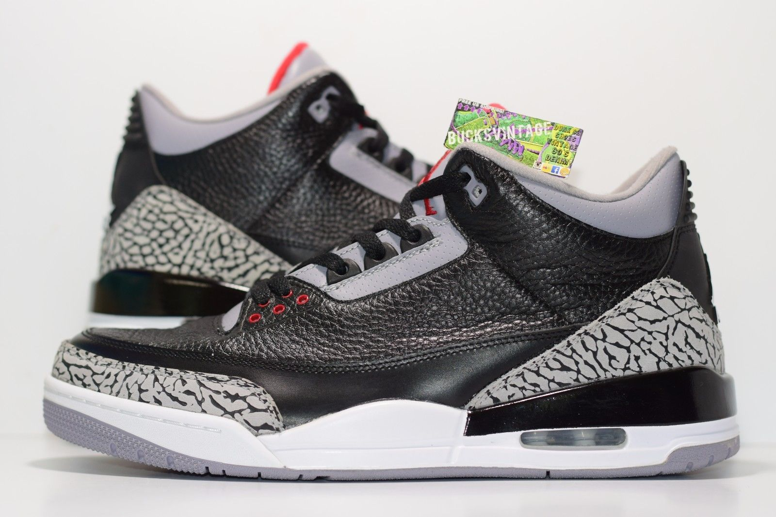 new arrival 97173 7e1c4 Size 11.5 | 2011 Nike Air Jordan 3 Retro Black Cement 36064-010 from  BucksVintage