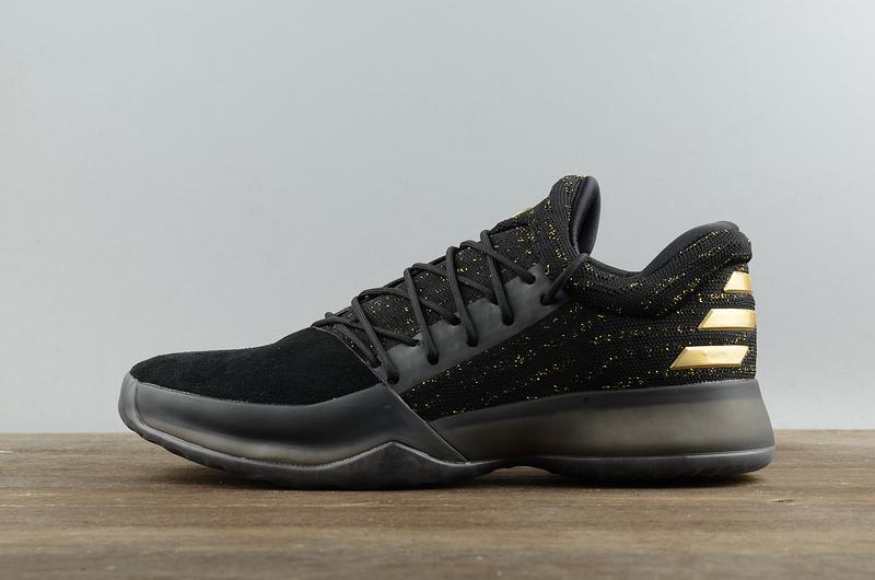 eb5413d99b68 Fashion Adidas Harden Vol.1 Basketball Shoes Black Gold Men s Sport Shoes  BW0545