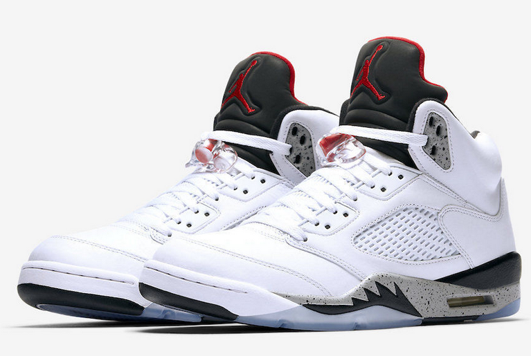 2353fff42d7 AIR JORDAN RETRO 5 V WHITE CEMENT RED BLACK METALLIC on Storenvy