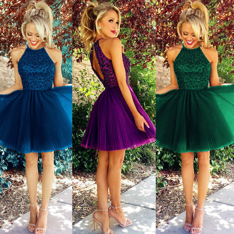 Cheap Homecoming Dresses Purple Prom Dressshort Homecoming Dress