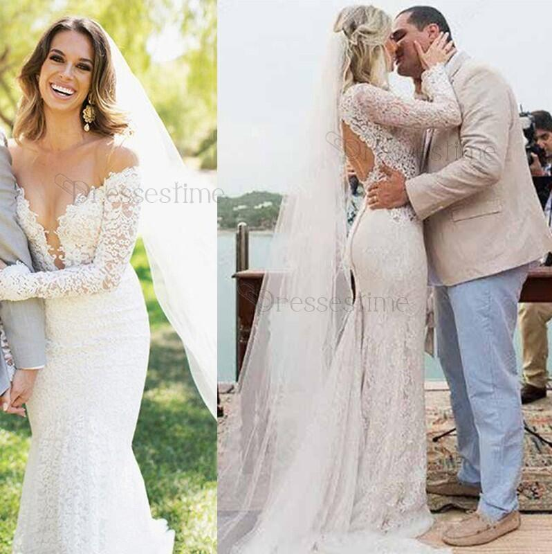 ba89e7f558c Sexy Mermaid Wedding Dress