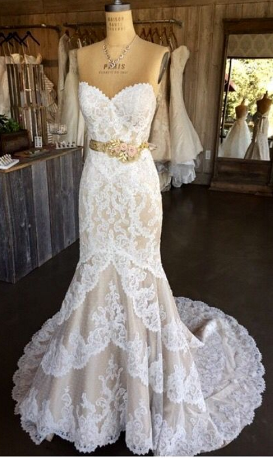 Lace Vintage Wedding Dress.White Wedding Dresses Mermaid Wedding Gown Lace Wedding Gowns Lace Bridal Dress Sexy Brides Dress Vintage Wedding Gowns From Balladresses