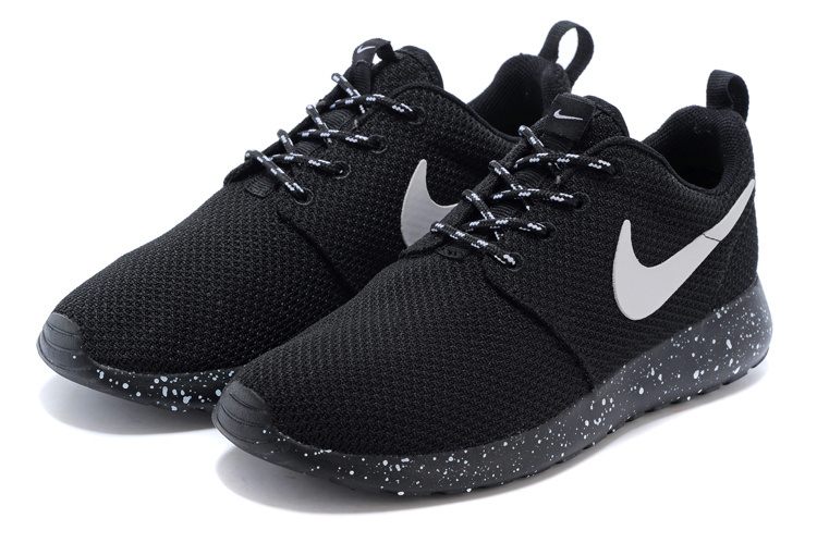 meet 3aec7 4e694 Fashion Nike Roshe Run Triple Black Oreo White Splatter Speckle running  shoes sold by sport shoes