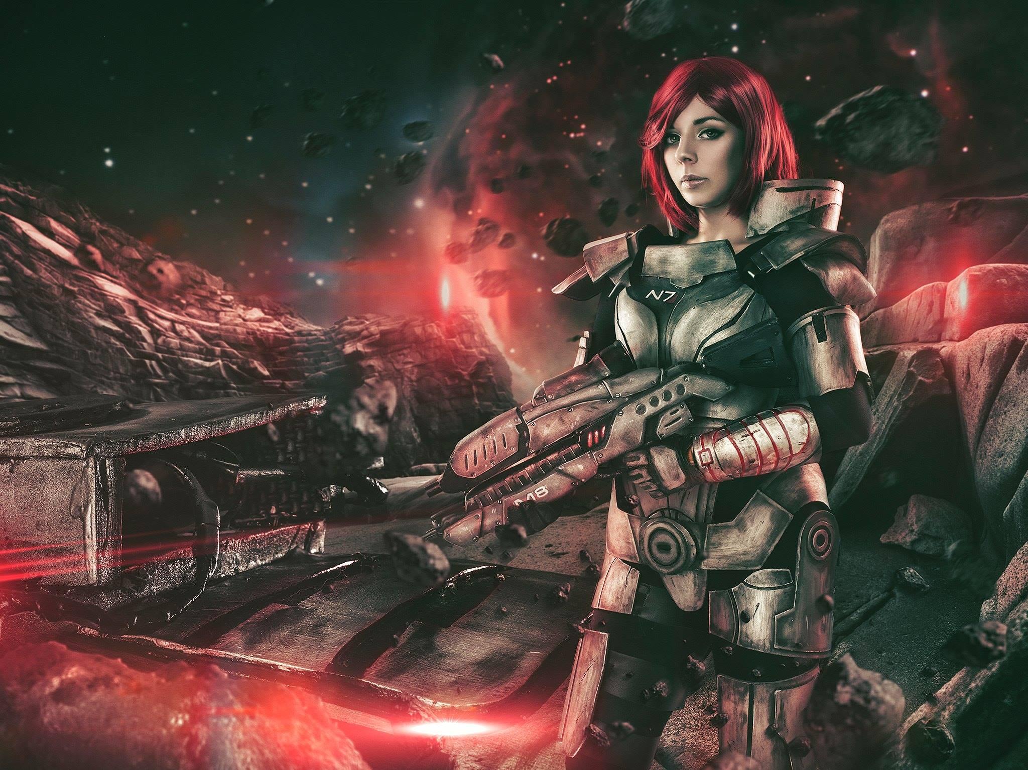 Commander Shepard Cosplay Print From Anhyracosplay
