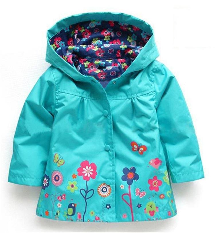 4b8683ae894 Girl Baby Kid Waterproof, Blue Hooded Coat Jacket Outwear Raincoat Hoodies  #C004blue