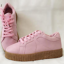 ea539f8a6219f Light Powder Pink/ Double Sole CREEPERS/ Platforms/ Oxfords Shoes/ original  Fantasy Gal