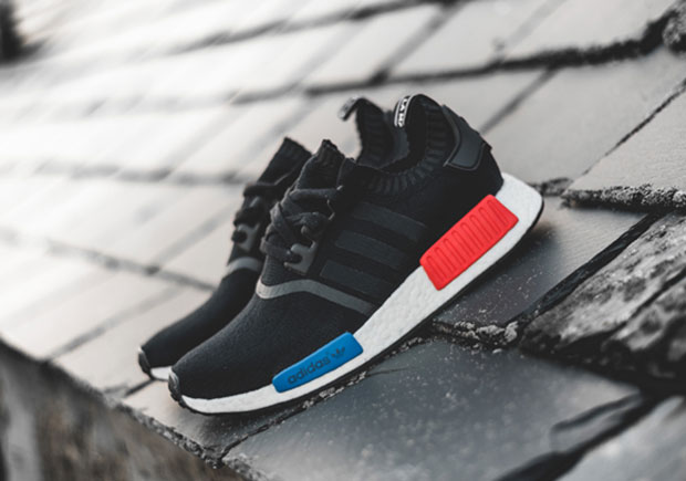 10f3e0aef7fc4 ADIDAS NMD R1 PRIMEKNIT OG NG Core Black Core Black Lush Red Style Code