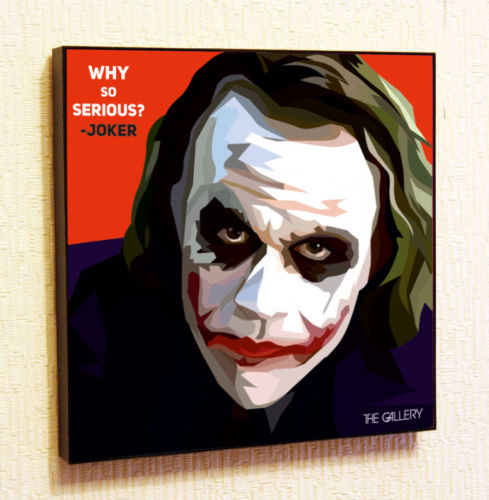 Joker 2 Painting Decor Print Wall Art Poster Pop Canvas Quotes Decals From Art888888