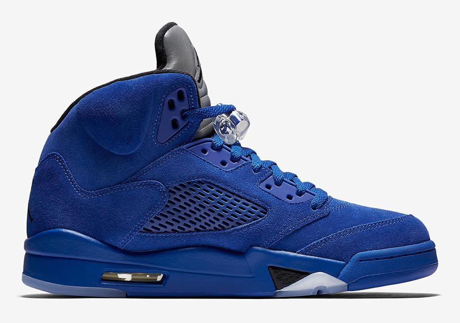 "on sale e04f5 c5189 AIR JORDAN 5 ""BLUE SUEDE"" Color: Game Royal/Black-Game Royal Style Code:  136021-401 Men8- 13 from FreshnUp"