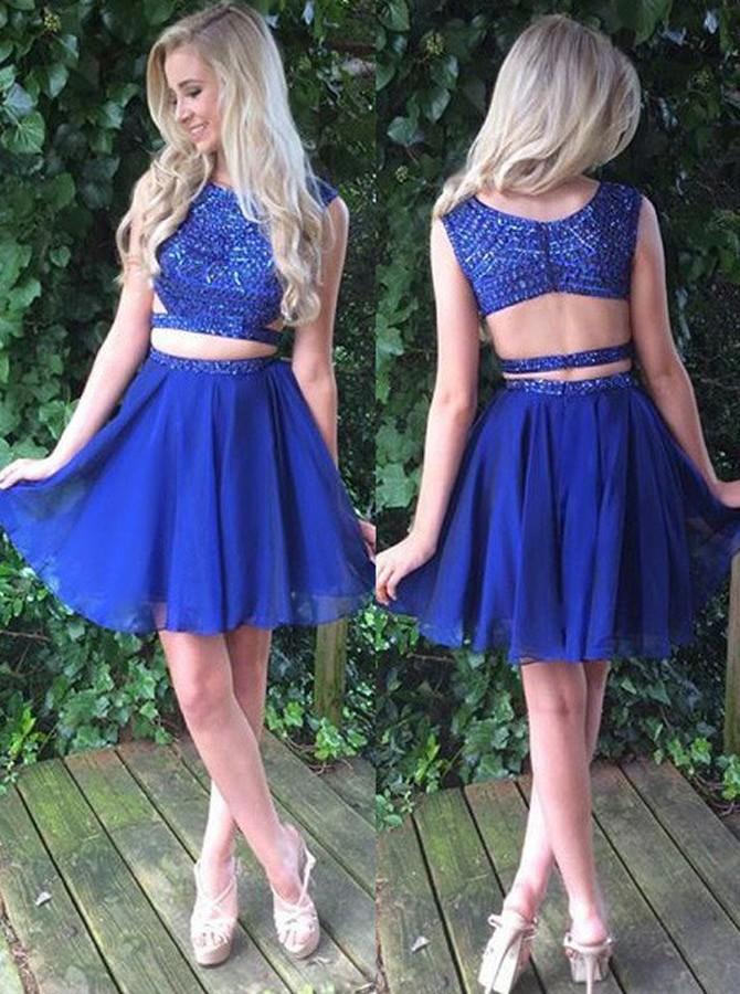 Royal Blue Prom Dresses Purple Short