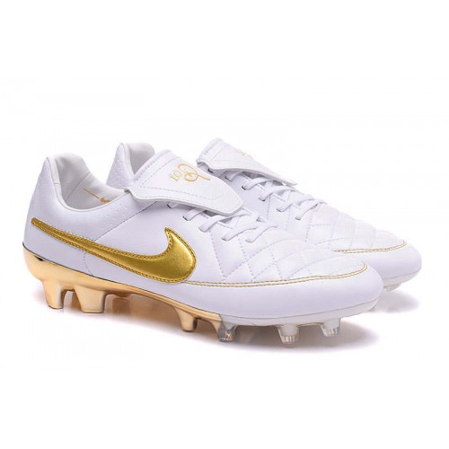 new product 5fff9 df186 Nike Tiempo R10 White Gold sold by Cleats23A