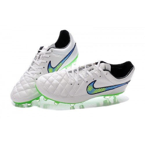 on sale e9564 0ede3 Nike Tiempo Legend V FG White Blue Green sold by Cleats23A