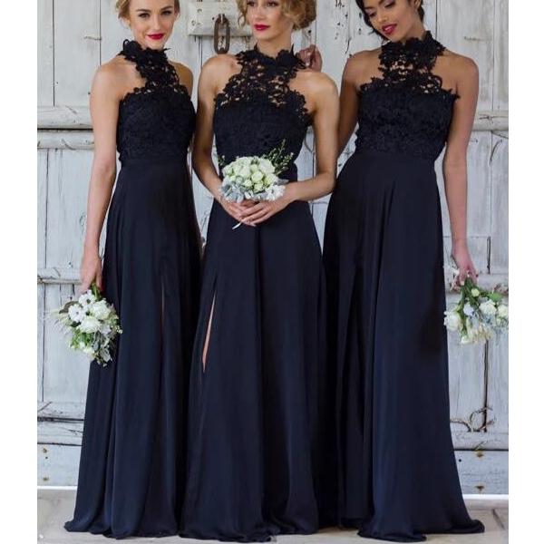 8268a6e90b7 Navy bridesmaid dress