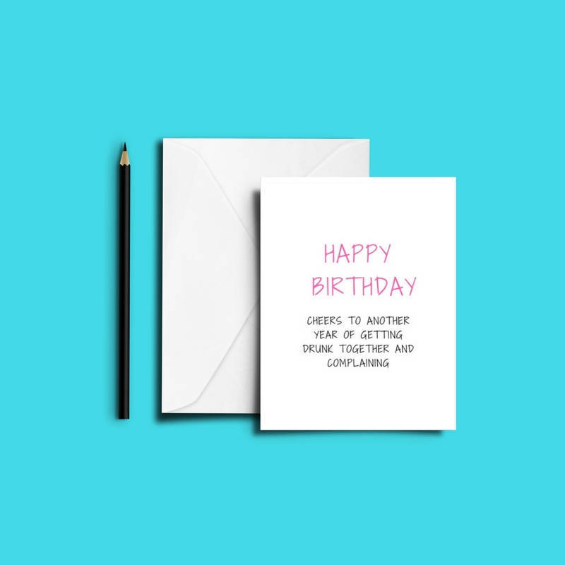Funny BEST FRIEND Drunk Birthday Card Bestie Love Friends Print Humour Banter Greeting Cards