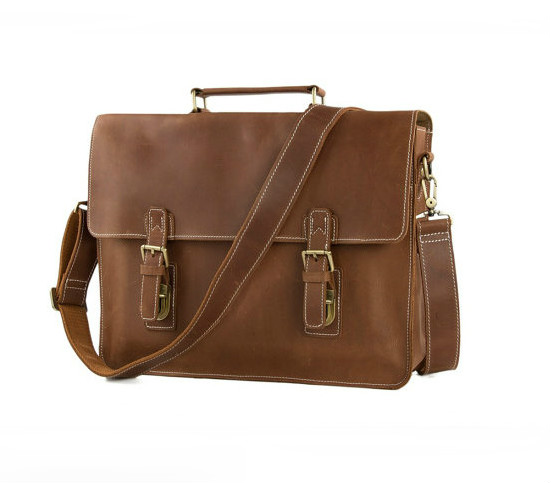 3855ac87fc81 Handmade Top Grain Brown Tan Real Leather Messenger Bag Laptop Bag Men  /Women Business Briefcase, Shoulder Bag, Men Handbag, Women Handbag ( G35)  from ...