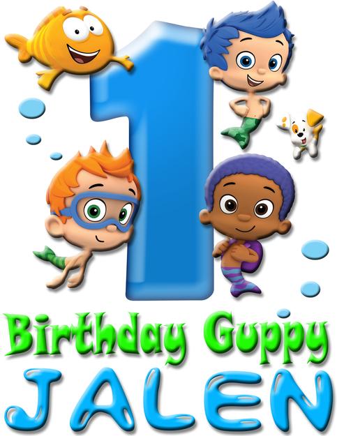 Bubble Guppies Birthday Boy Shirt Add Name Age